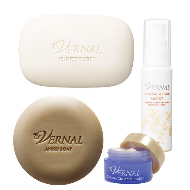 雙重潔顏套組-活力潔顏皂(110g)+ 美肌水嫩皂(110g) +送花木精華霜(4g)+綿密噴霧化妝水(30ml) 1