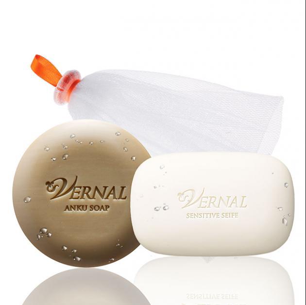 夏日清淨美肌組 雙重潔顏皂(110g)任選2個+專利起泡網 1
