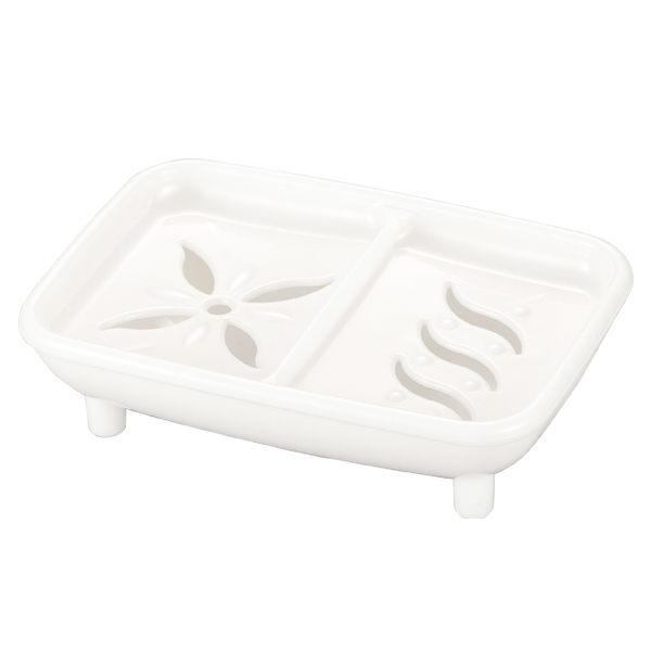 日本製白色皂盒-W洗顏皂專用 1